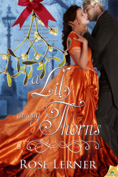 lily among thorns cover with big mistletoe sprig